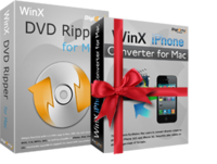 WinX DVD Ripper for Mac (+ Free Get iPhone Video Converter) kaufen und downloaden